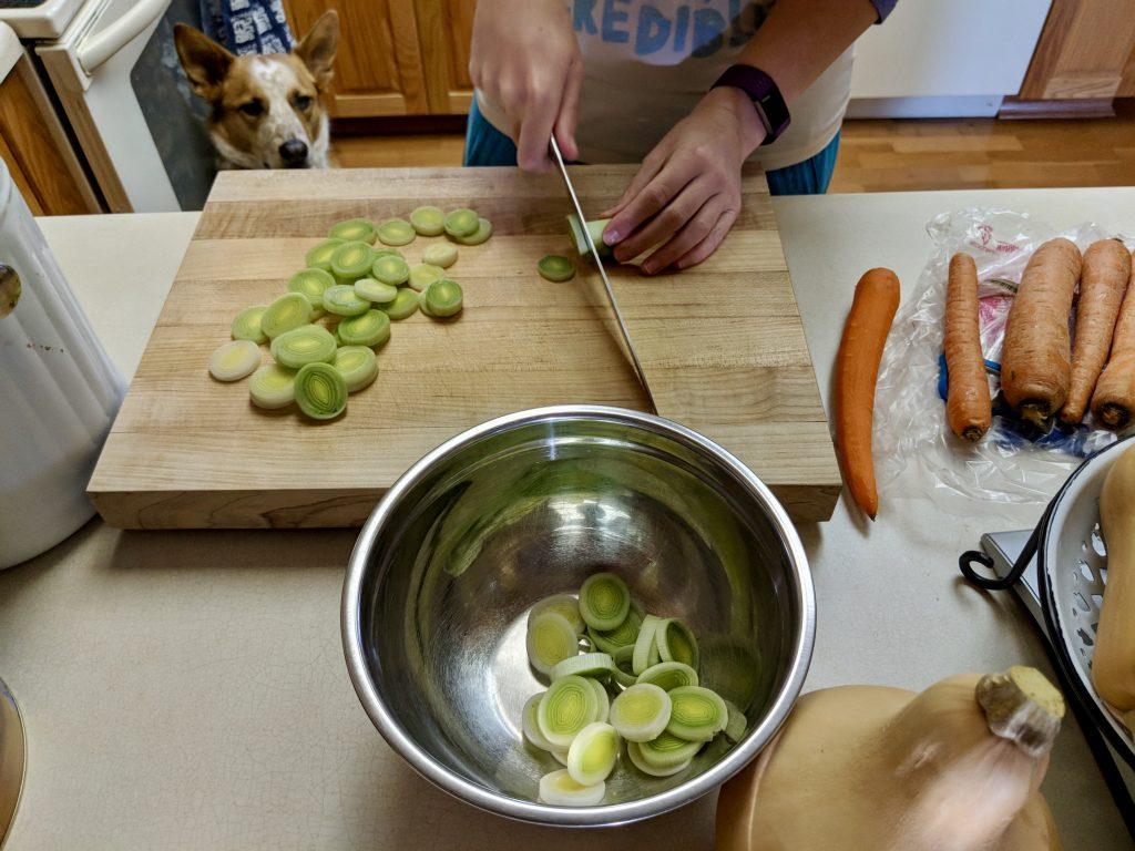 Meal 1 - Oliver Monitors Food Prep