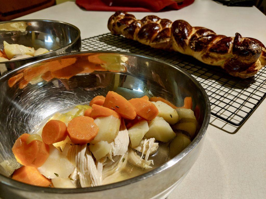 Meal 1 - Poule-au-Bouillon with Hallah