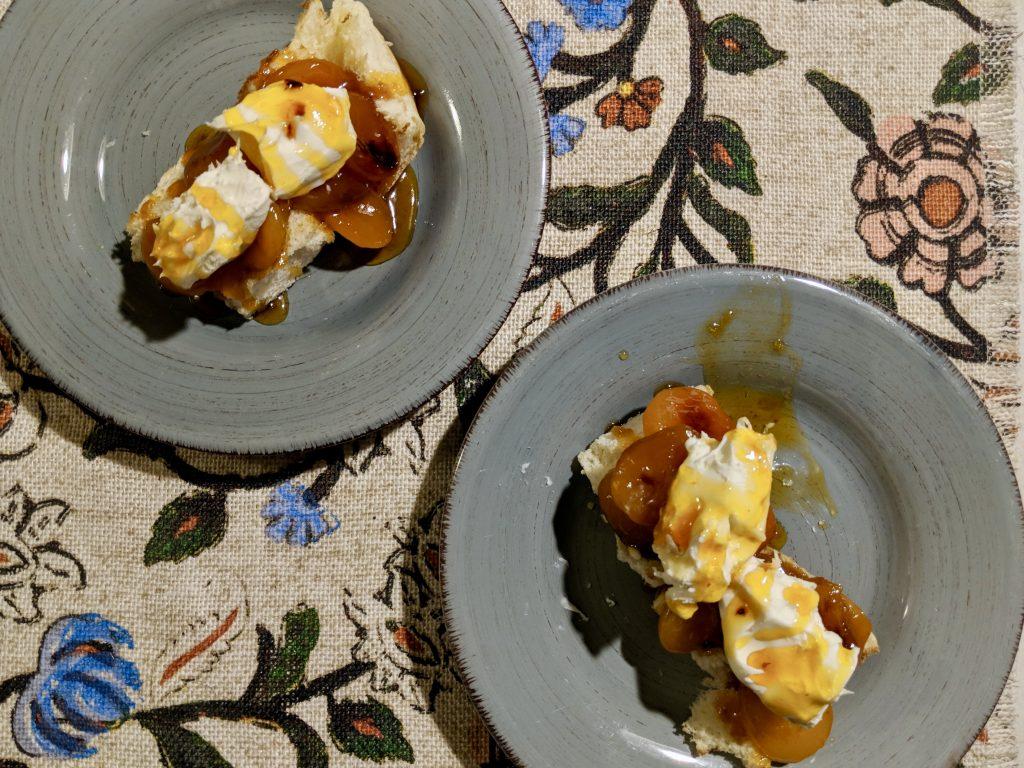 Meal 33 - Stewed Cherries on Bread