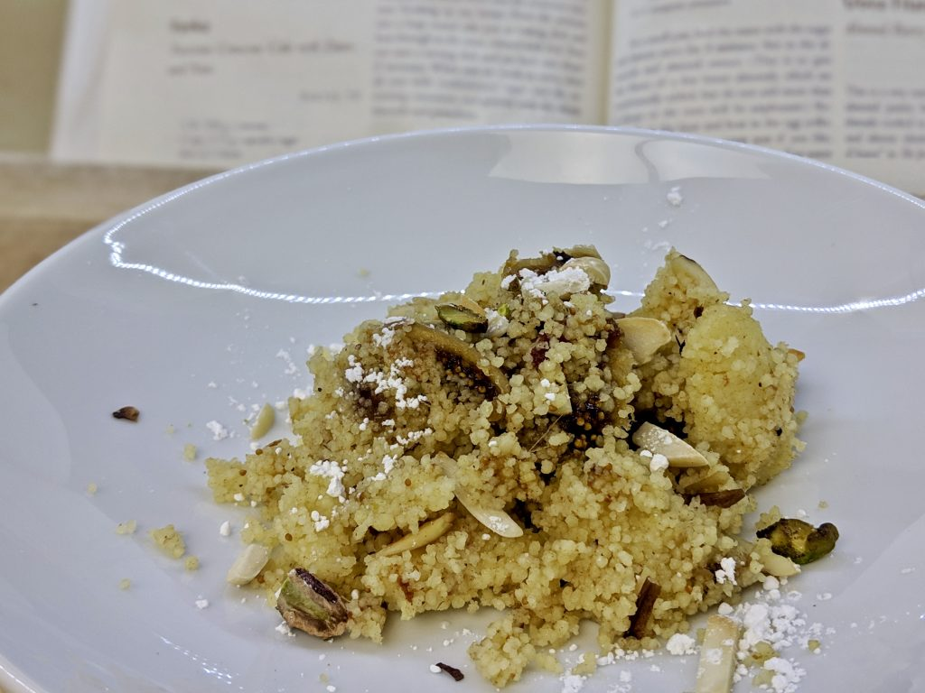 Meal 48 - Farka - Tunisian Couscous Cake with Dates & Nuts