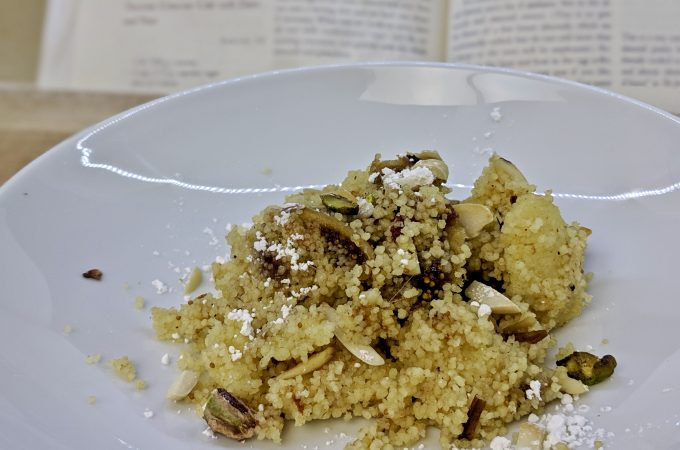Farka – Tunsian Couscous Cake with Dates and Nuts