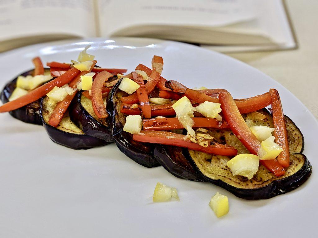 Meal 52 - Salade d'Aubergines Frites et de Poivrons - Fried Eggplant & Pepper Salad
