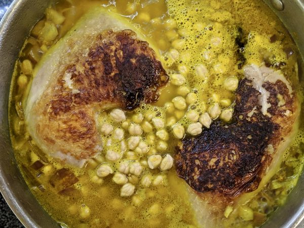 Meal 54 - Poulet aux Pois Chiches - Chicken with Chickpeas