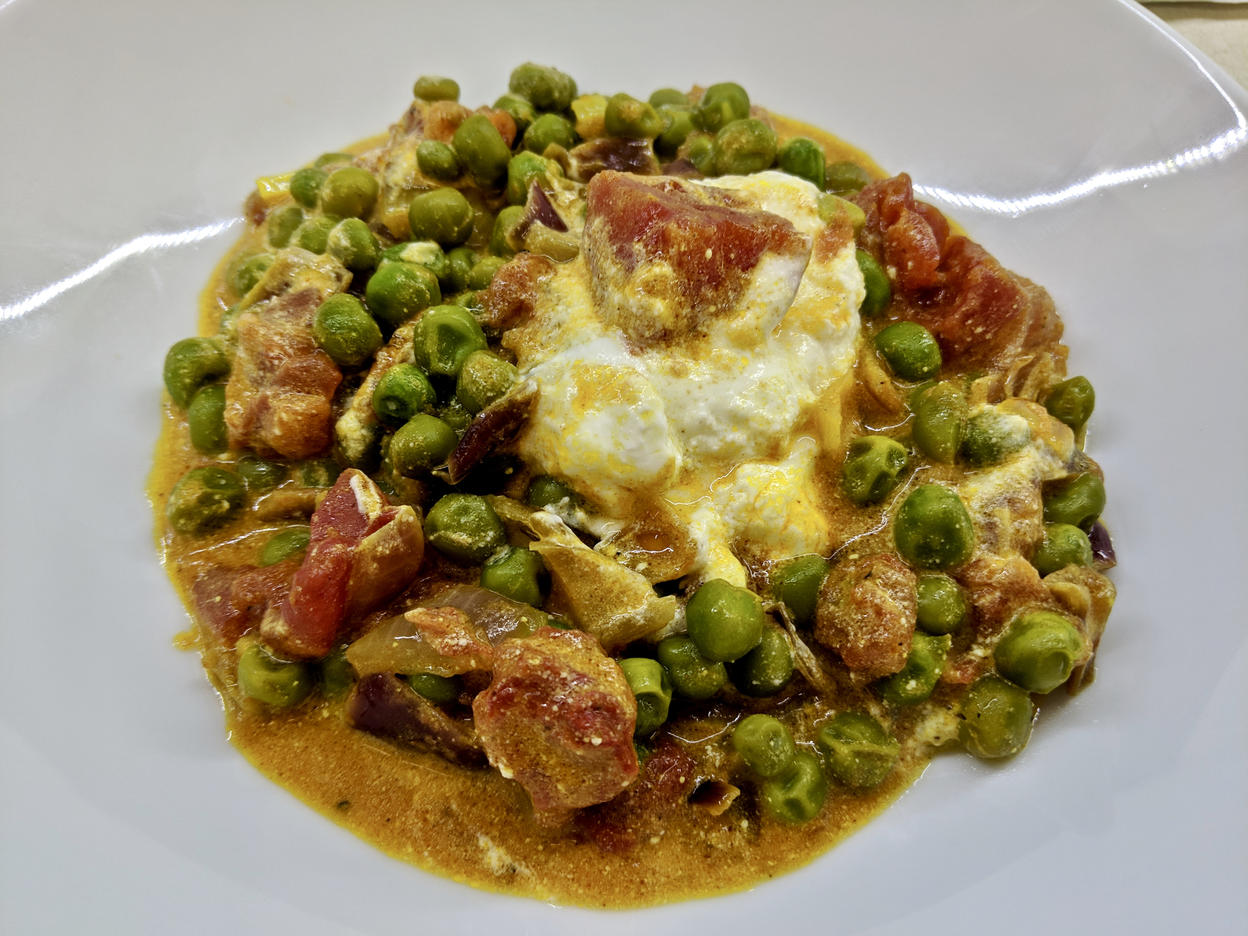 Meal 54 - Mattar Paneer - Peas and Cheese Curry