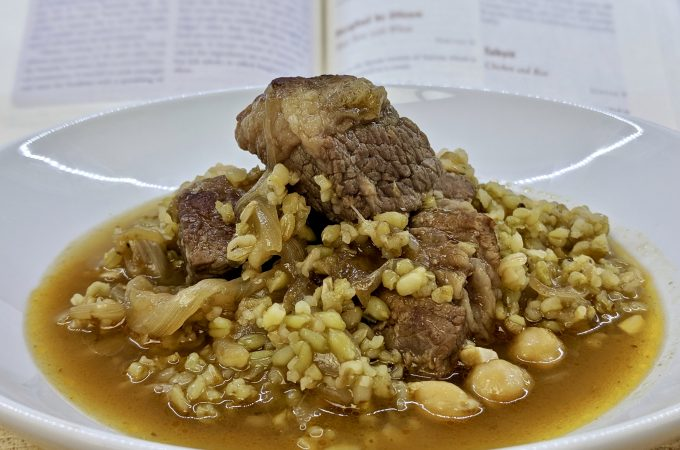 Burghul bi Dfeen – Meat Stew with Wheat
