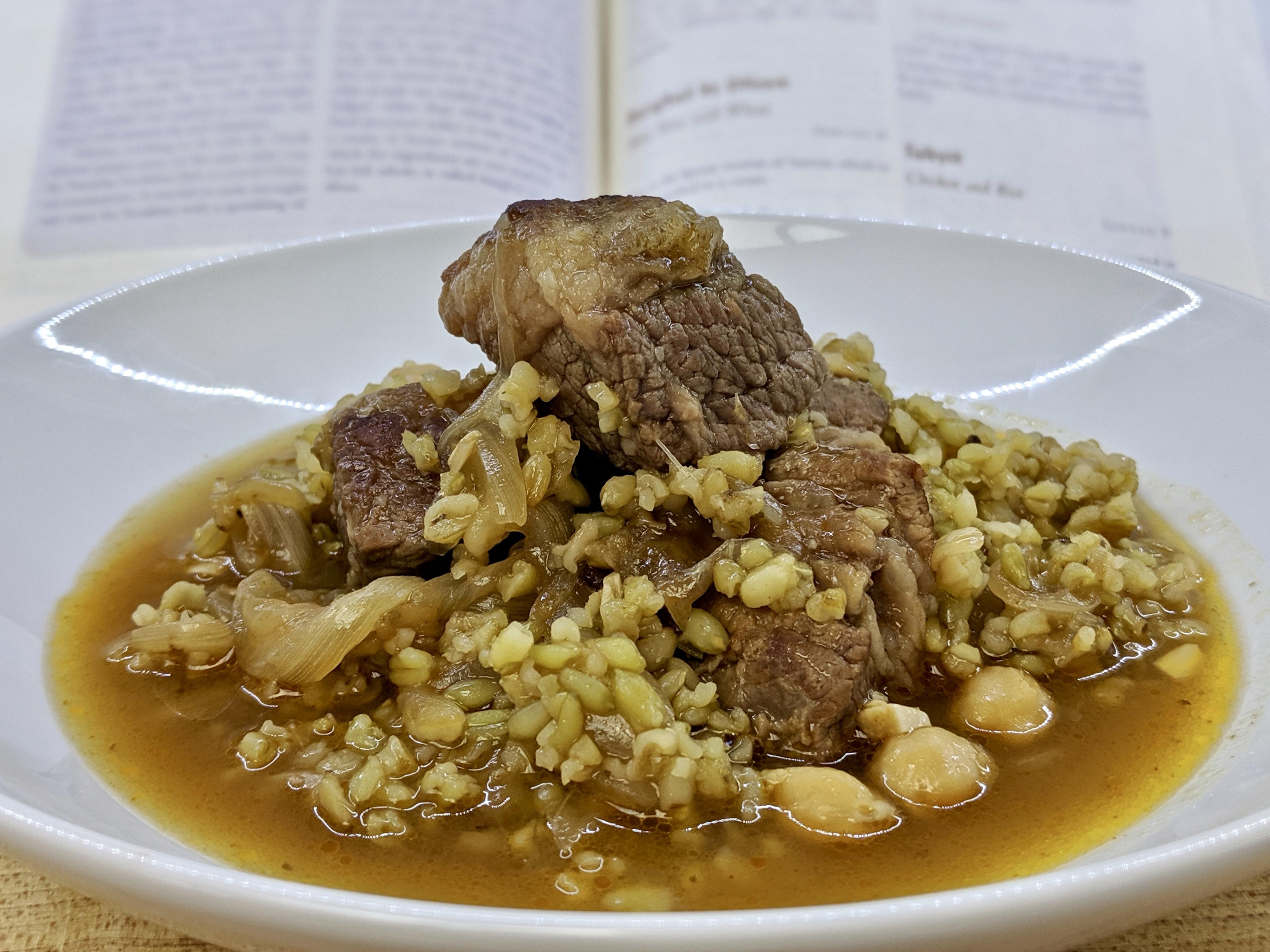 Meal 58 - Burghul bi Dfeen - Meat Stew with Wheat