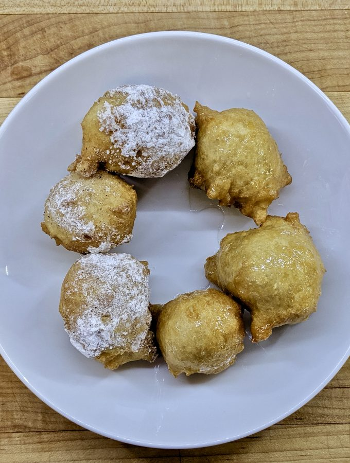 Meal 61 - Bimuelos or Zalabia - Fritters in Syrup