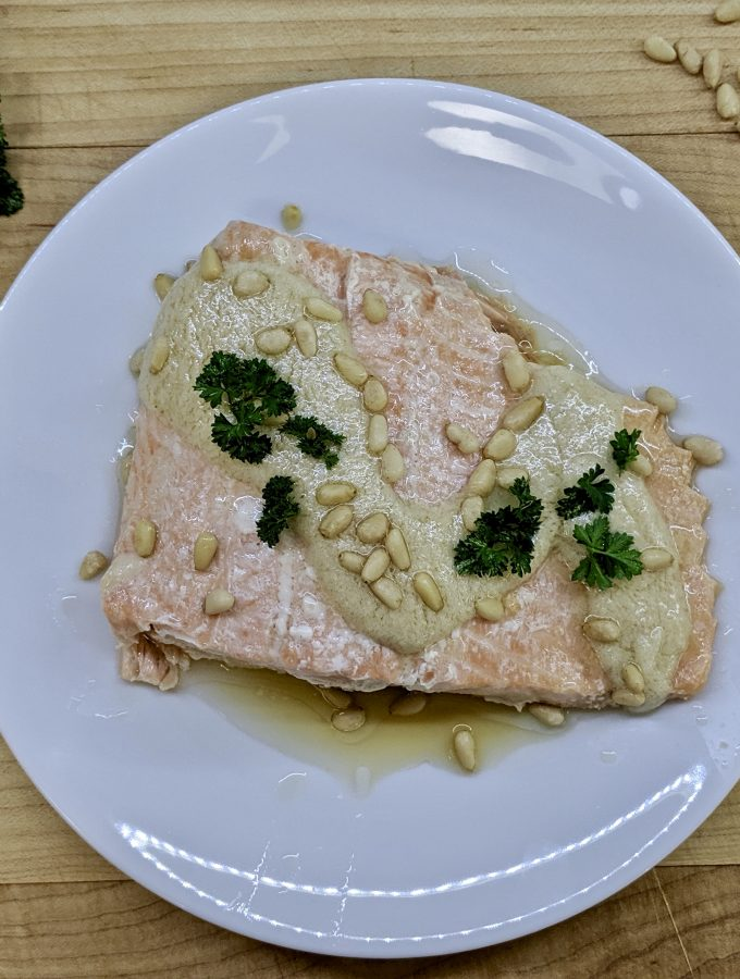 Meal 65 - Samak Tarator - Cold Fish with Pine Nut Sauce