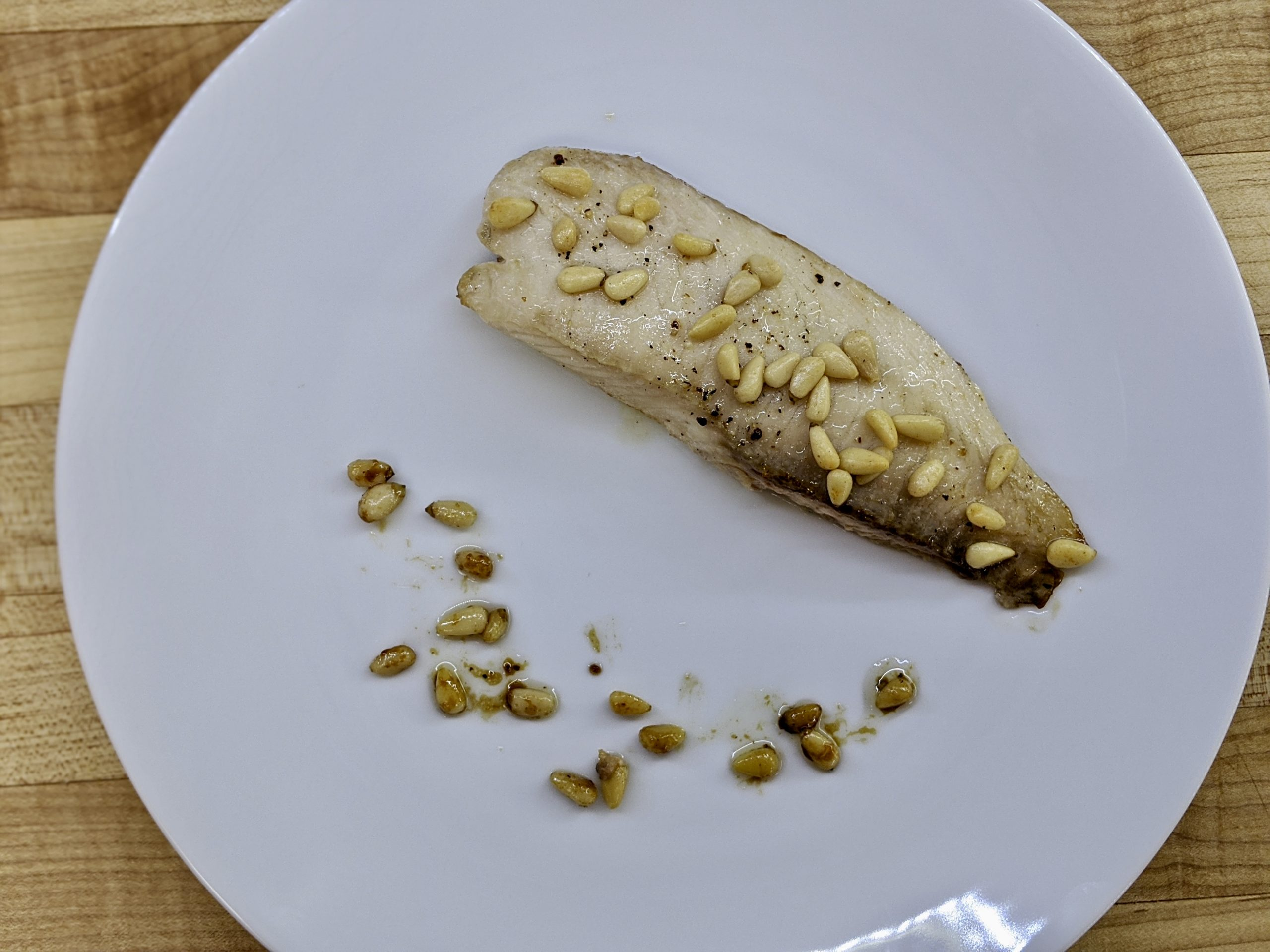 Triglie con Uvette e Pinoli - Red Mullet with Raisins and Pine Nuts