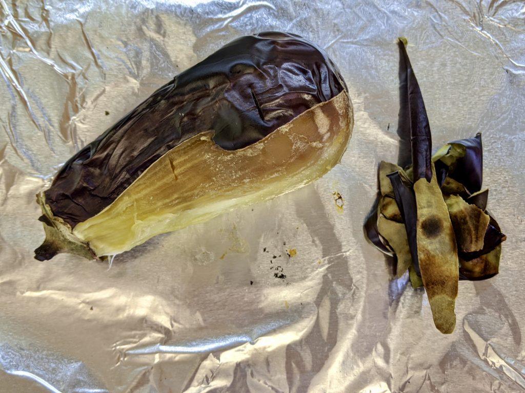 Meal 72 - Babaghanouzh or Moutabal - Eggplant and Tahini Puree