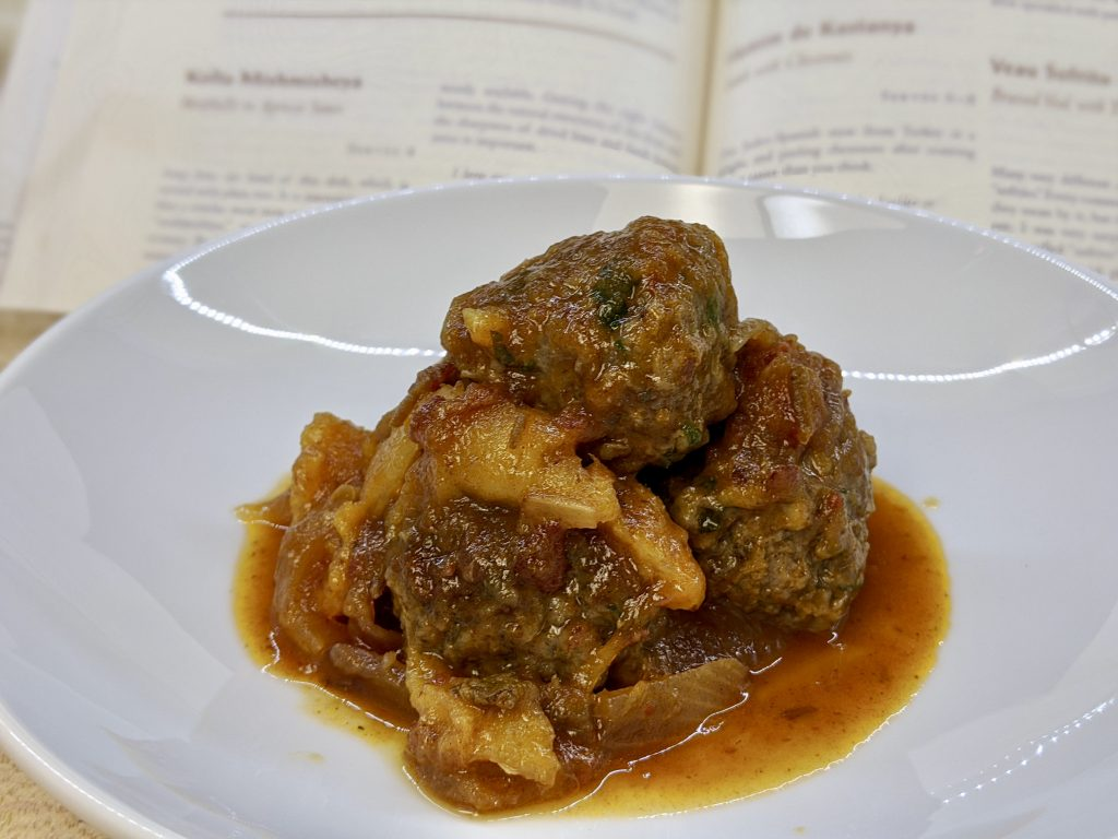 Meal 73 - Kofta Mishmisheya - Meatballs in Apricot Sauce