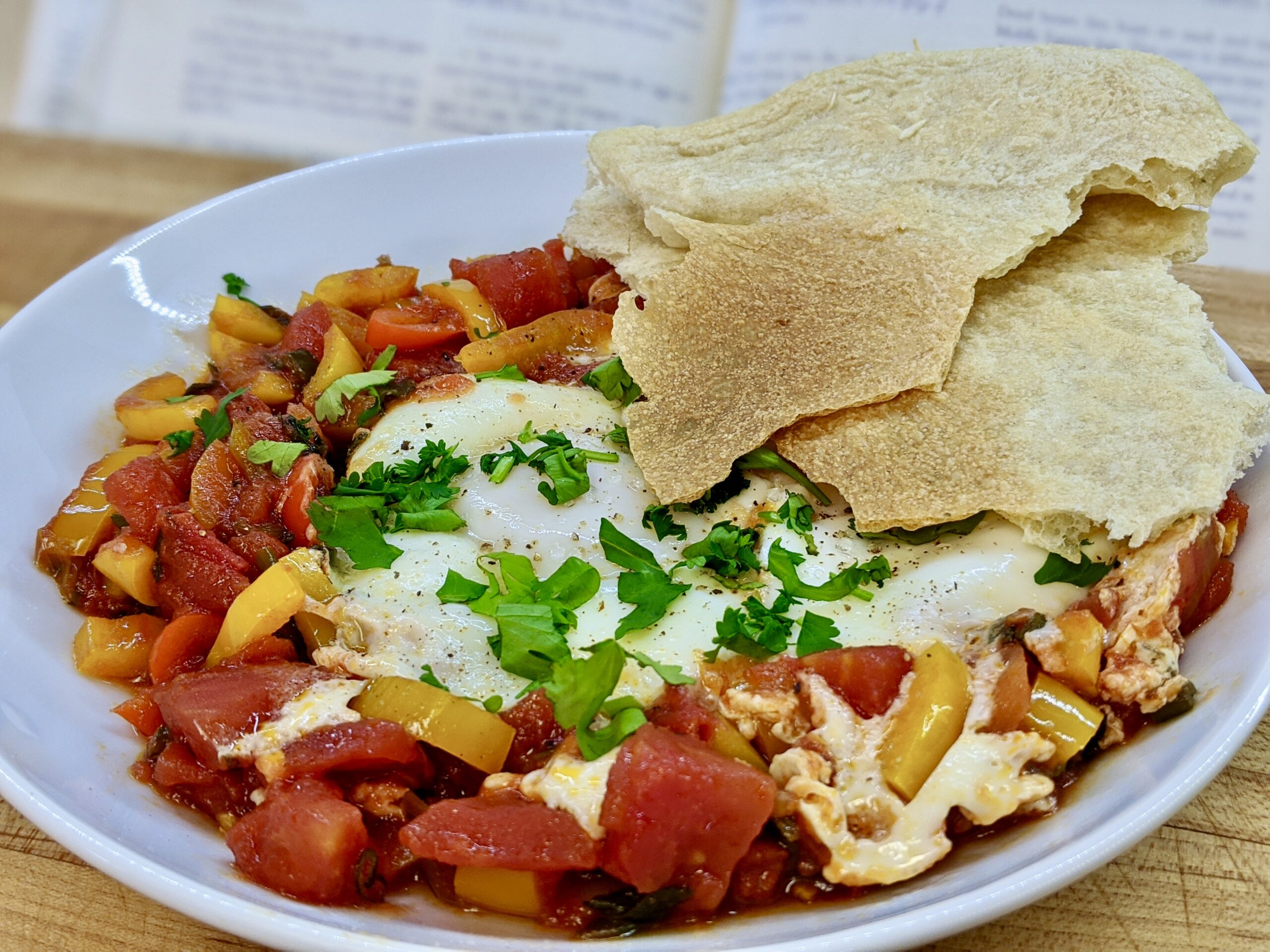 Meal 83 - Shakshouka - Fried Peppers and Tomatoes with Eggs