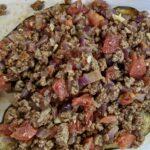 Meal 85 - Sheikh el Mahshi Betingan - Eggplants stuffed with Ground Meat and Pine Nuts