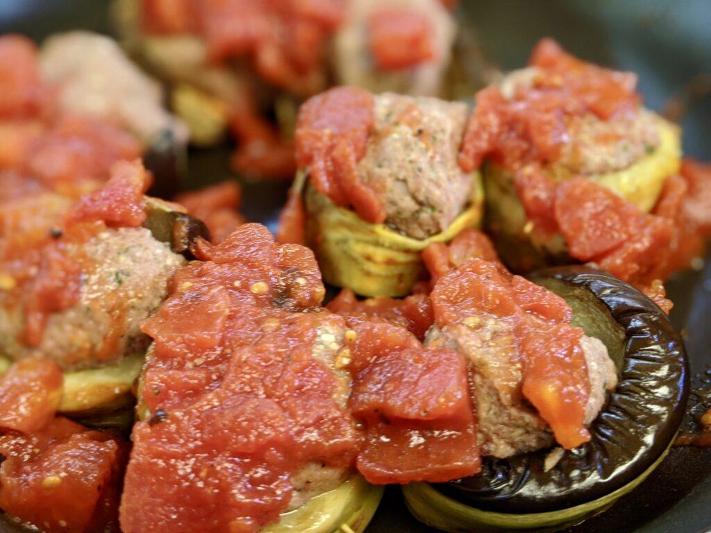 Meal 85 - Rulos de Berengena - Eggplant Rolls Stuffed with Meat