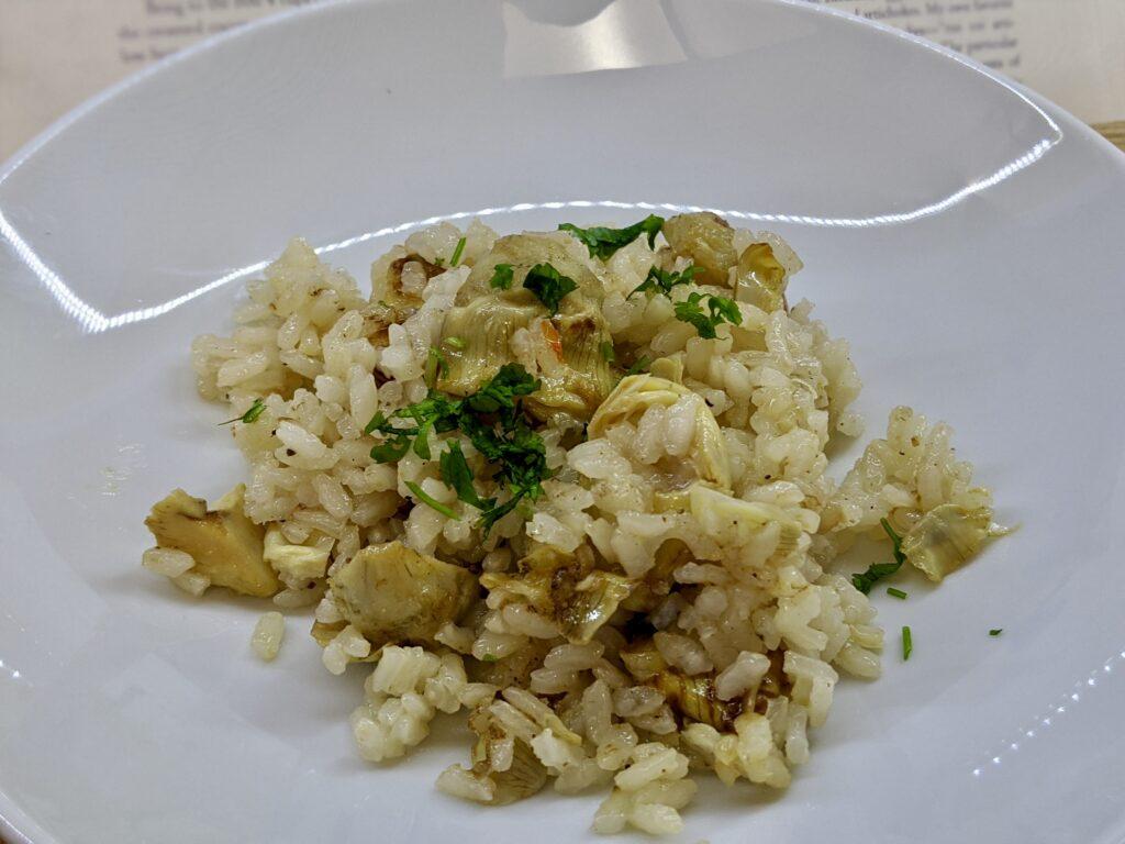 Meal 86 - Riso coi Carciofi - Rice with Artichokes