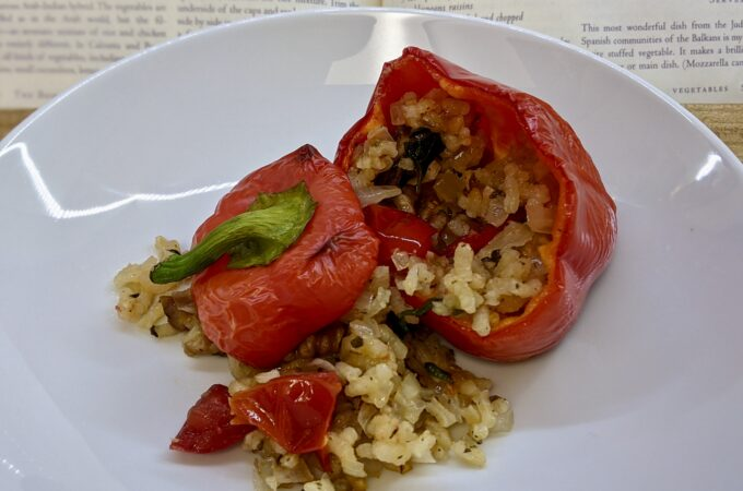 Made In Marrow - Meal 93 Pipiruchkas Reyenadas de Arroz - Peppers Stuffed with Rice