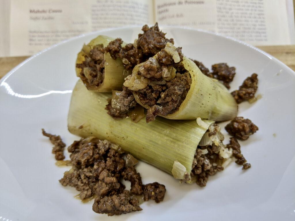 Made In Marrow - Meal 95 - Rouleaux de Poireaux - Stuffed Leek Rolls