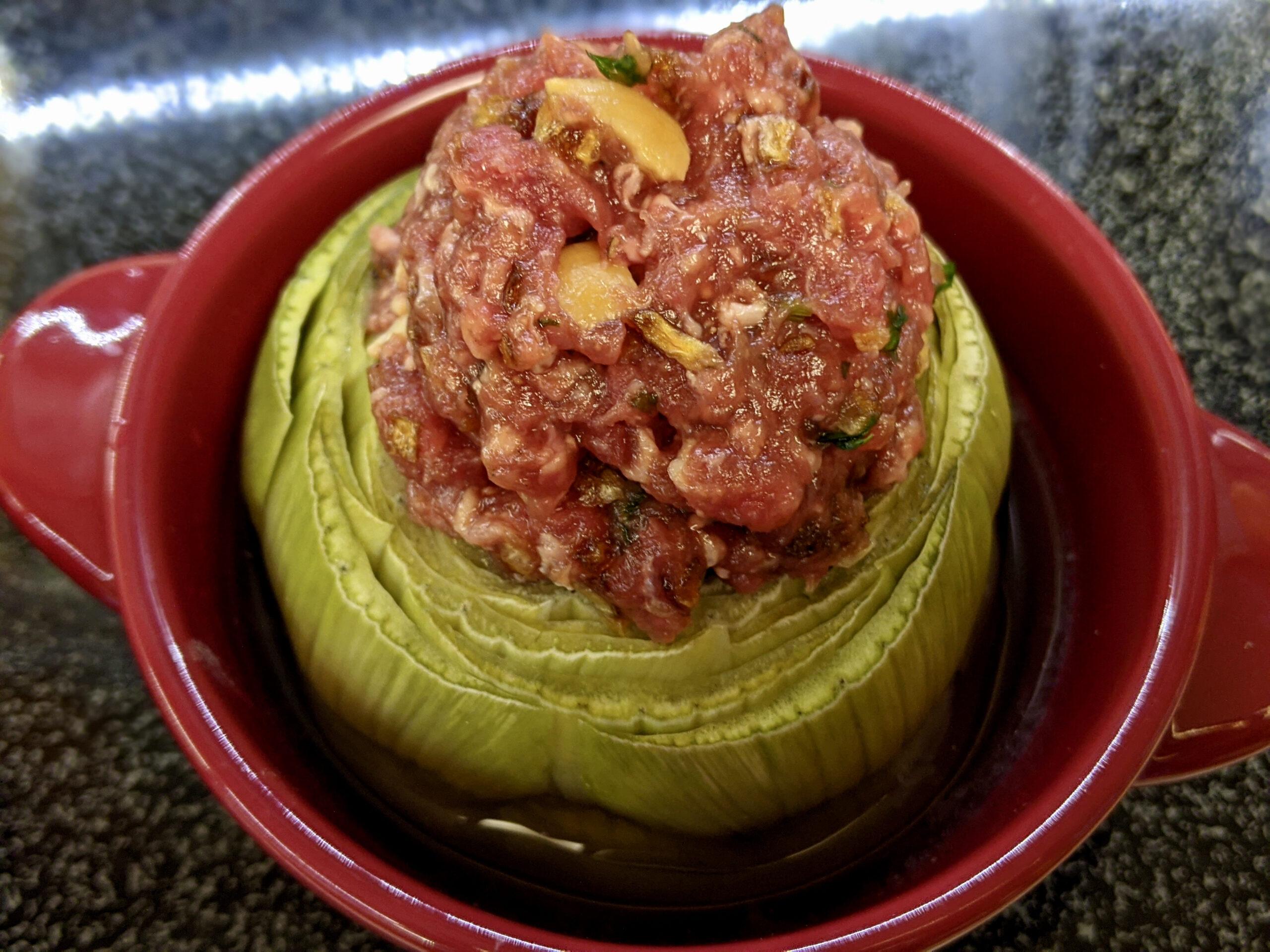 Made In Marrow - Meal 95 - Kharshouf Maahshi - Artichoke Bottoms Stuffed with Meat